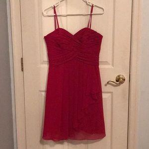 Red David's Bridal Mini Dress